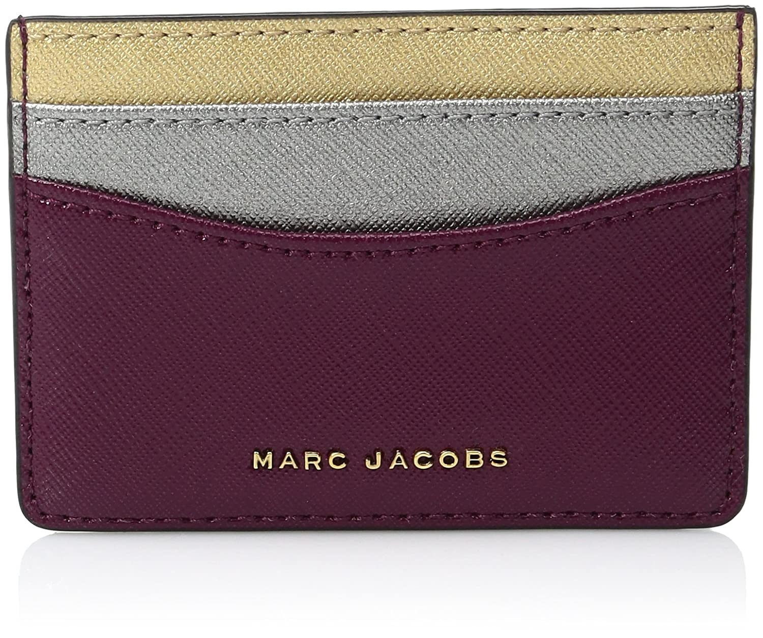pretty nice 64b3f a6294 Marc Jacobs Women's Tricolor Card Holder, Pink (Berry), 1x7x10 cm (W ...