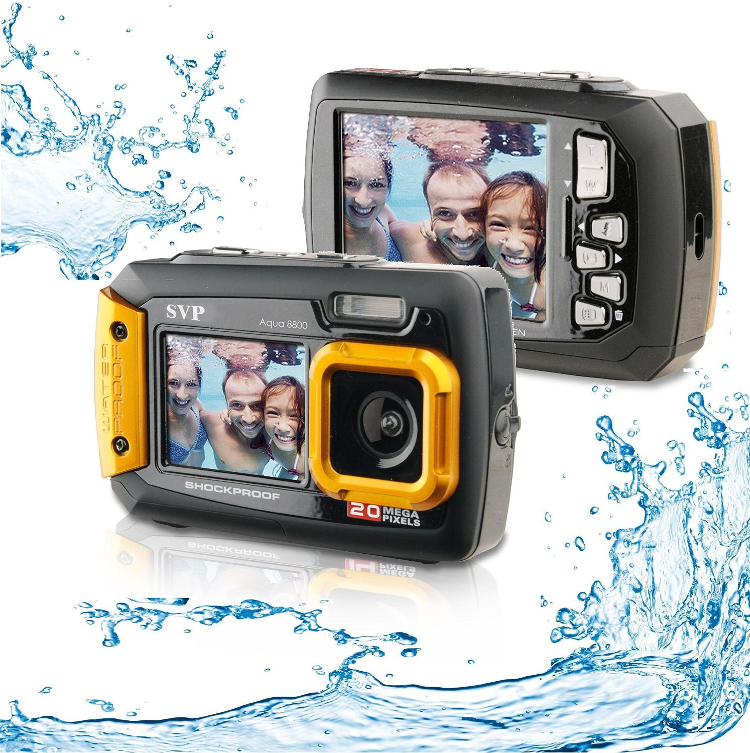 Silicon Valley Imaging Corp 8800-orange Waterproof Digital Camera (Body Only)