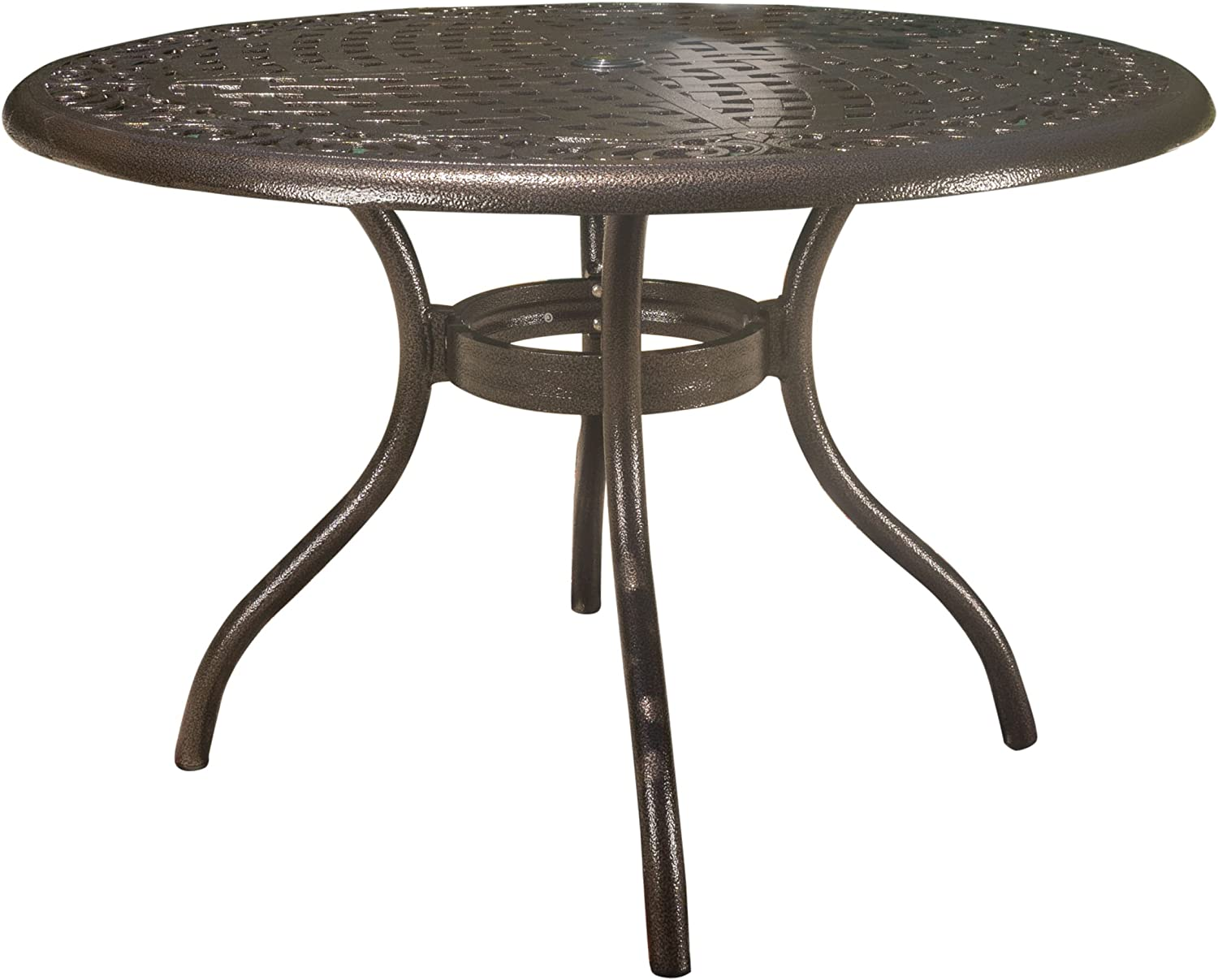 Amazon.com : Christopher Knight Home Phoenix Cast Aluminum Round Table, Hammered Bronze : Garden & Outdoor