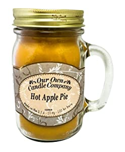 Our Own Candle Company Hot Apple Pie Scented 13 Ounce Mason Jar Candle