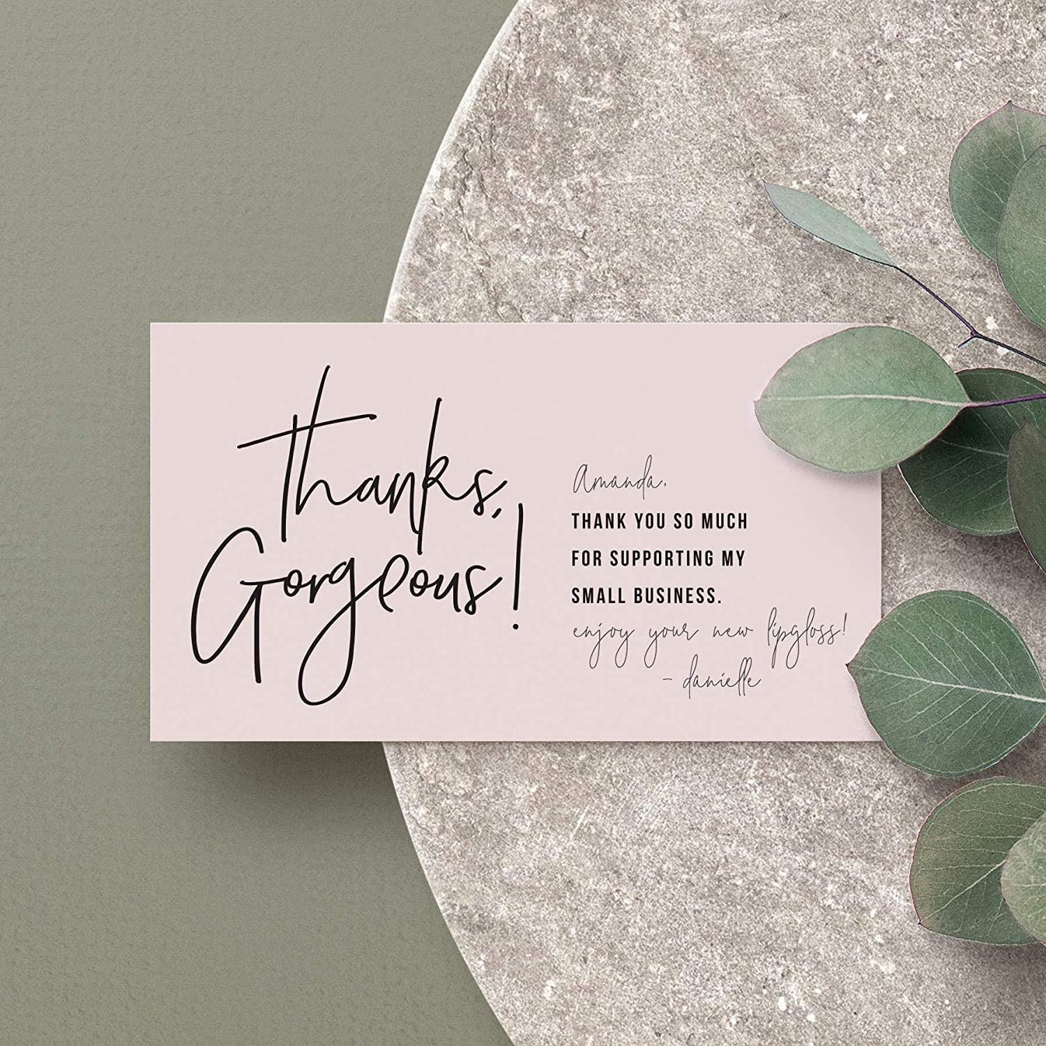 Bliss Collections Thank You For Supporting My Small Business Cards, Premium design, 2 x 3.5 business card size, perfect for small business owners, thanks gorgeous feminine design, 50 pack : Office Products