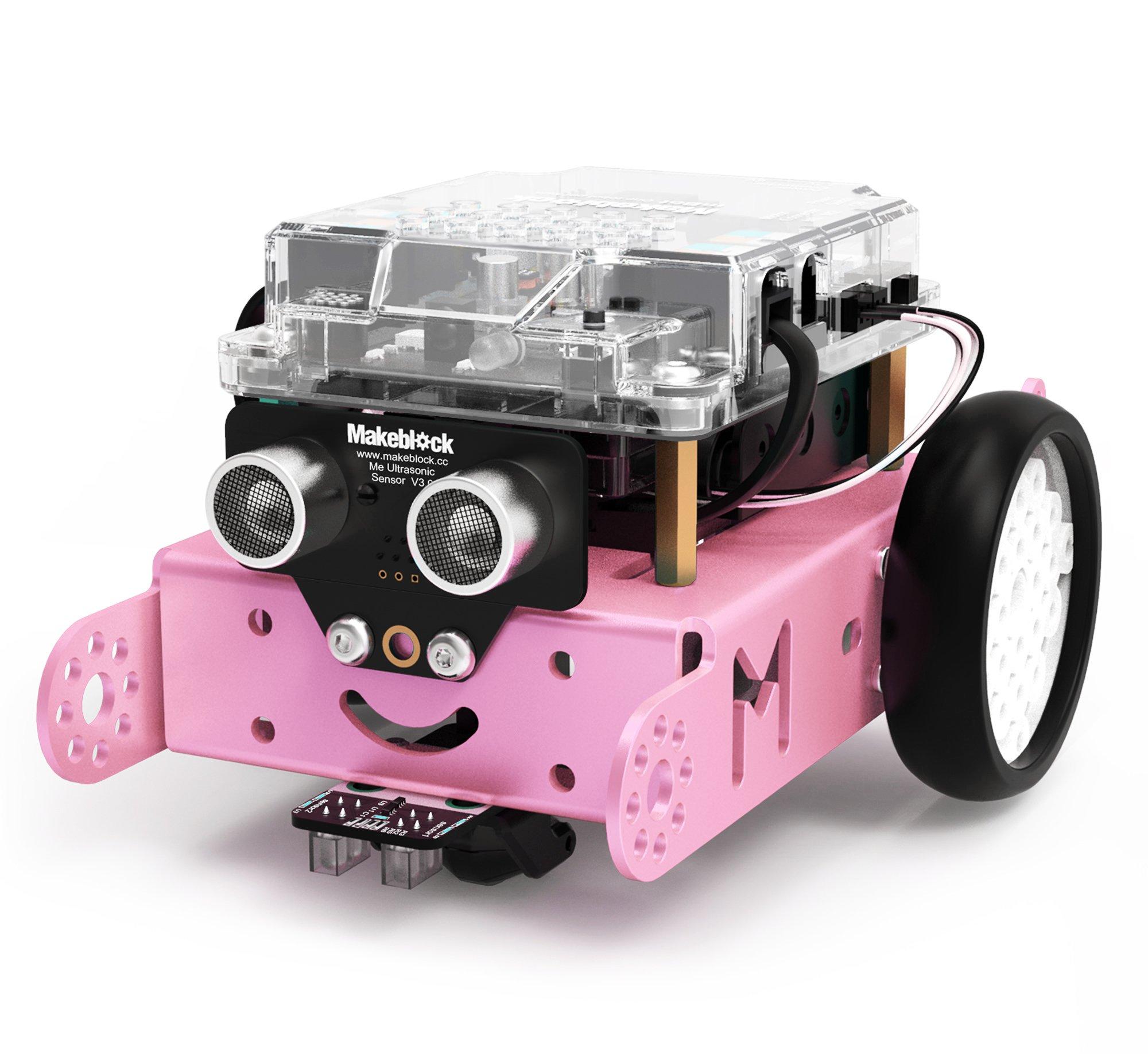 Makeblock mBot Robot Kit, DIY Mechanical Building Block, STEM Education, Entry-Level Programming Improves Kids' Logical Thinking and Creativity. (Pink, 2.4G Version, Classroom)