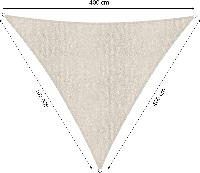 atmungsaktiv wasserabweisend 160 g//m/² Polyester mit doppelter PU-Beschichtung Gelb Befestigungsseile wetterbest/ändig UV-Schutz 30+ Rechteck 2 x 3 Meter Lumaland Sonnensegel inkl