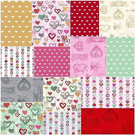 Amazon Com Anne Bollman Vintage Valentine Fat Quarter Bundle 14