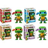 Funko PoP Teenage Mutant Ninja Turtles Figure Set Of 4 - Raphael, Leonardo, Donatello, Michelangelo