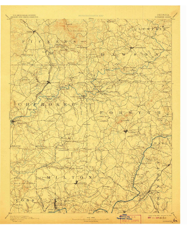 Amazon Com Yellowmaps Suwanee Ga Topo Map 1 125000 Scale 30 X 30