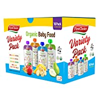 First Choice 16-Pack Organic Baby Food Pouches Stage 2 & Up, 4 Ounce Fruit and Veggie...