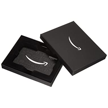Amazon.com Gift Card in a Black Amazon Gift Box