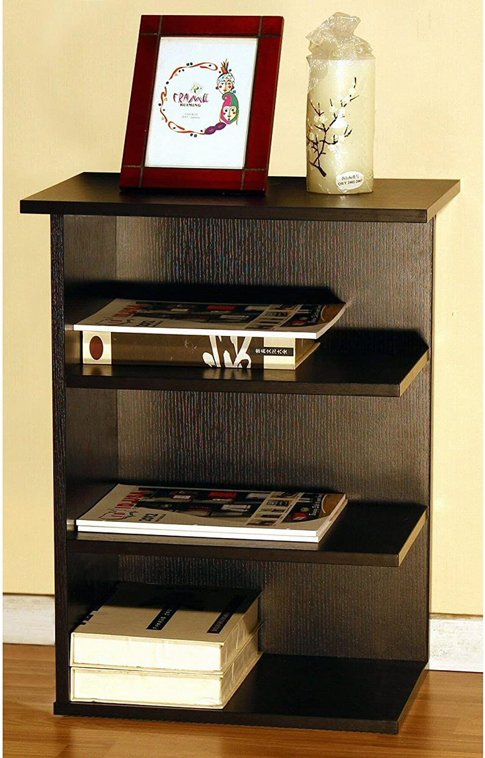 HomeConcept 11451 Magazine Rack Chairside End Table Red Cocoa by by Home Concept