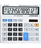 SaleOn™ Financial and Business Office Calculator with Large LCD Display and Acrylic Protected Mirror Buttons(White)-792