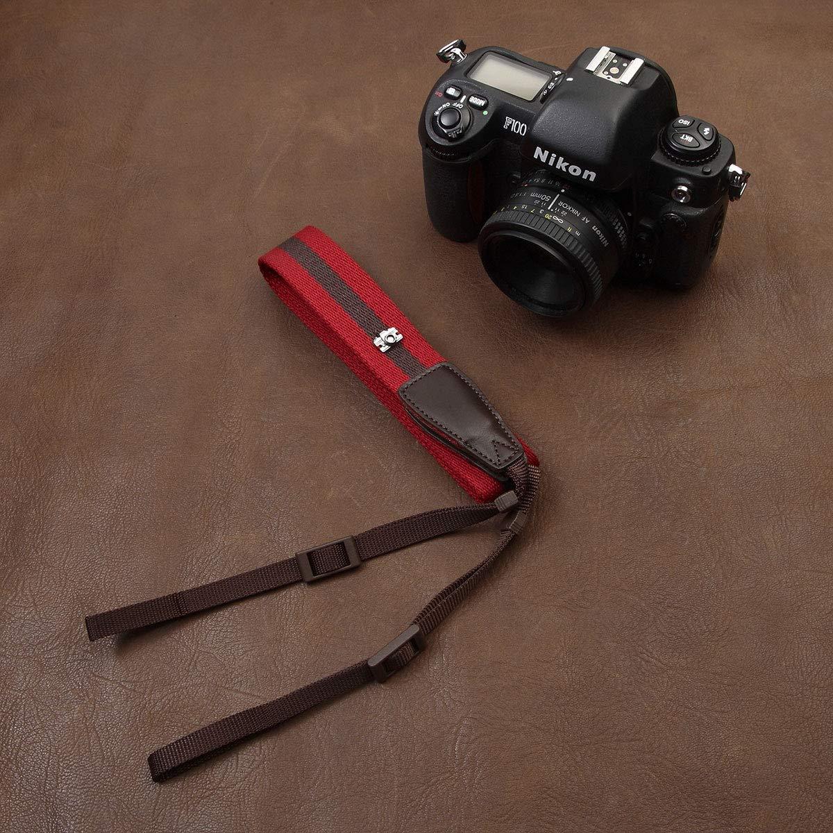 Cam-in - Correa de Piel para cámara Sony A99 A77 II A3500 A65 A58 ...