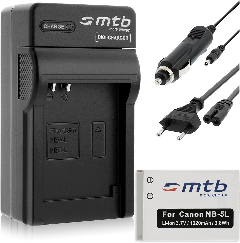 USB//Coche//Corriente SX230 HS .Ver Lista Cargador SD990 IS.Powershot S110 800 IS para Canon NB-5L // Ixus 90 IS