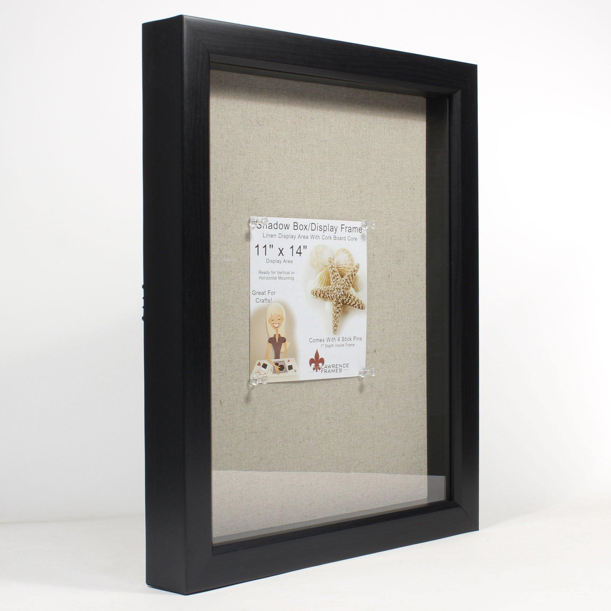 lawrence frames 11 by 14 inch black shadow box frame. Black Bedroom Furniture Sets. Home Design Ideas