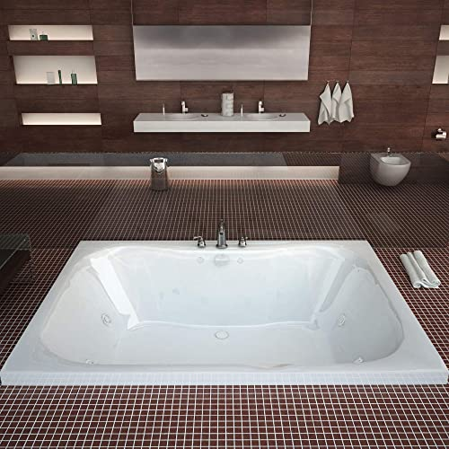 Atlantis Whirlpools 4060NWL Neptune 40 x 60 Rectangular Whirlpool Jetted Bathtub