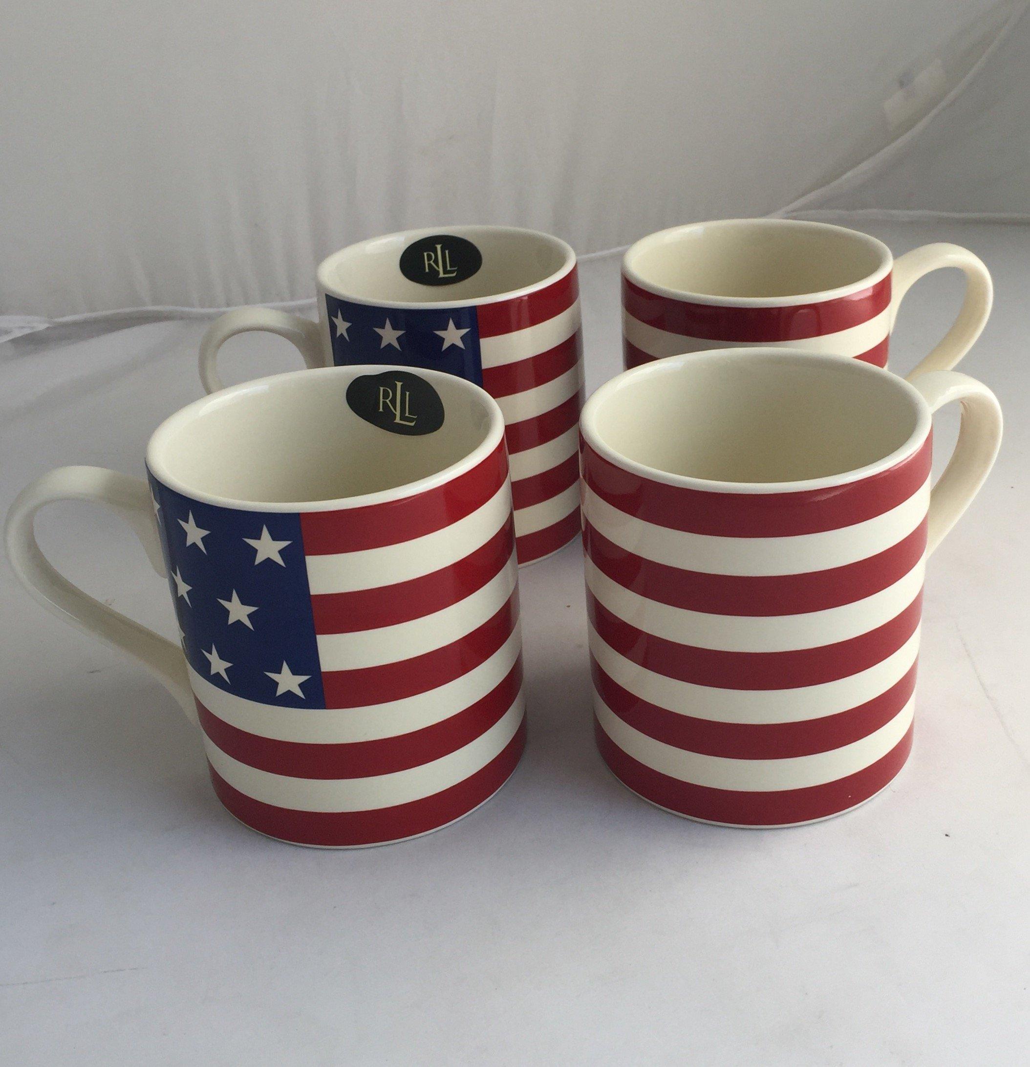 Lauren Home Hamptons USA Flag Mug (Set of 4)