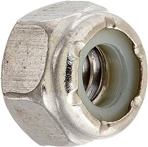 Hillman Group 829720 1/4 by 20-Inch Stainless Steel Nylon Insert Locknut, 50-Pack, Single