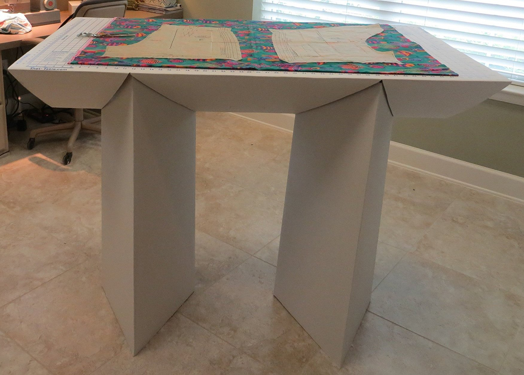 That-Table Flat-Top, Fold-Away, Counter Height, Fabric Cutting Board & Multi-Purpose Table, 55'' L x 32'' W
