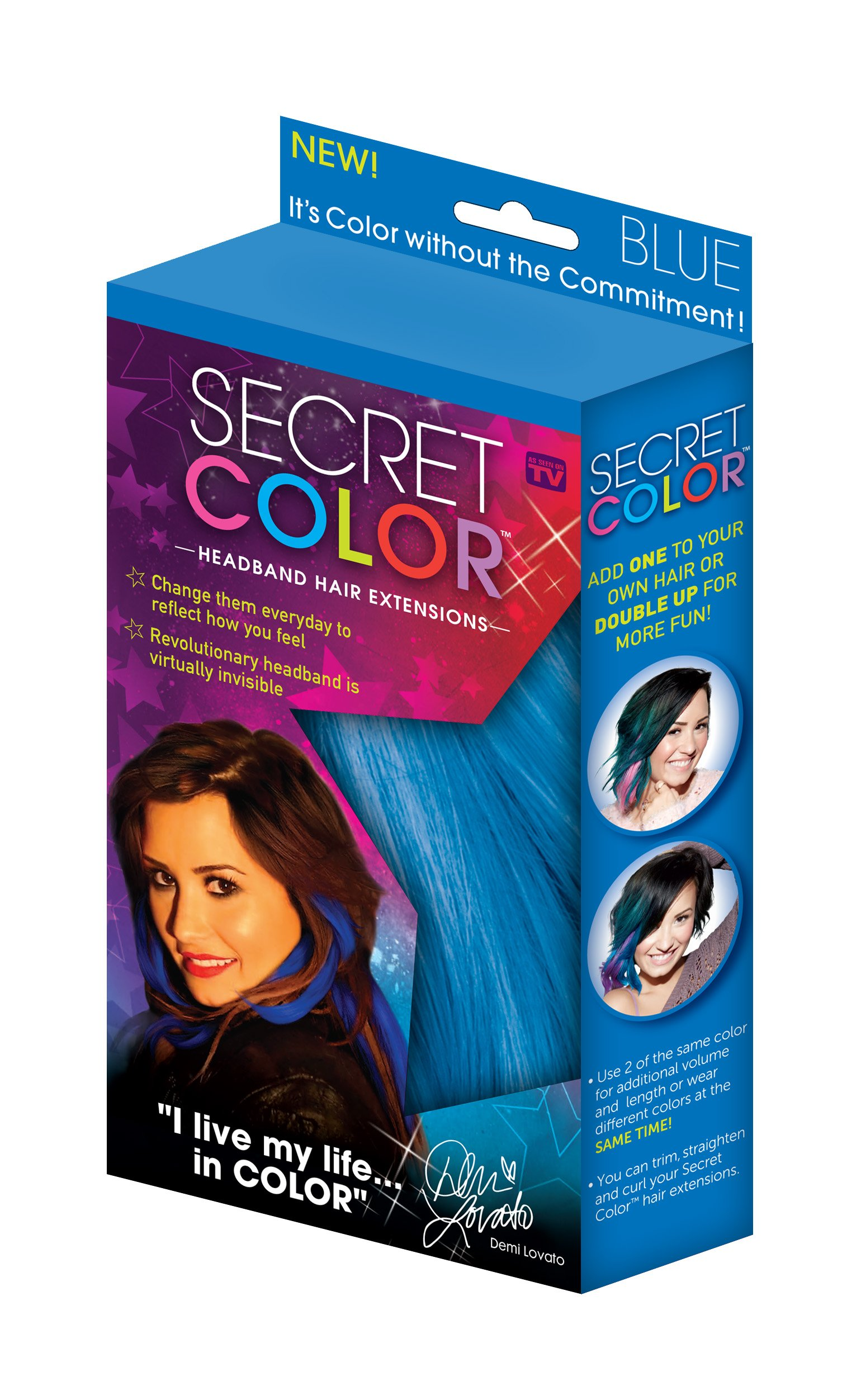 Amazon.com: Secret Color Hair Extensions, Blue: Beauty