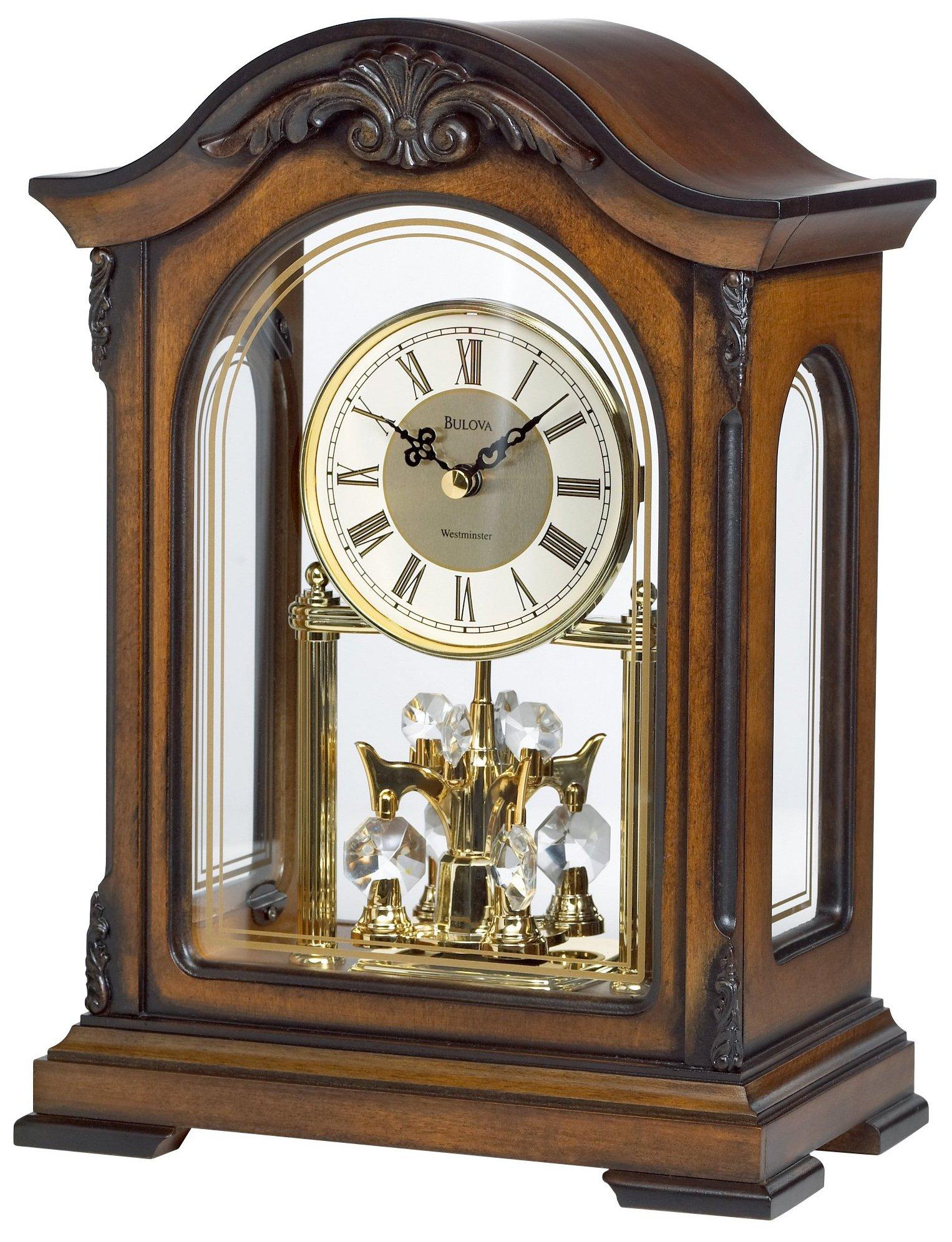 Bulova B1845 Durant Old World Clock, Walnut Finish by Bulova (Image #1)