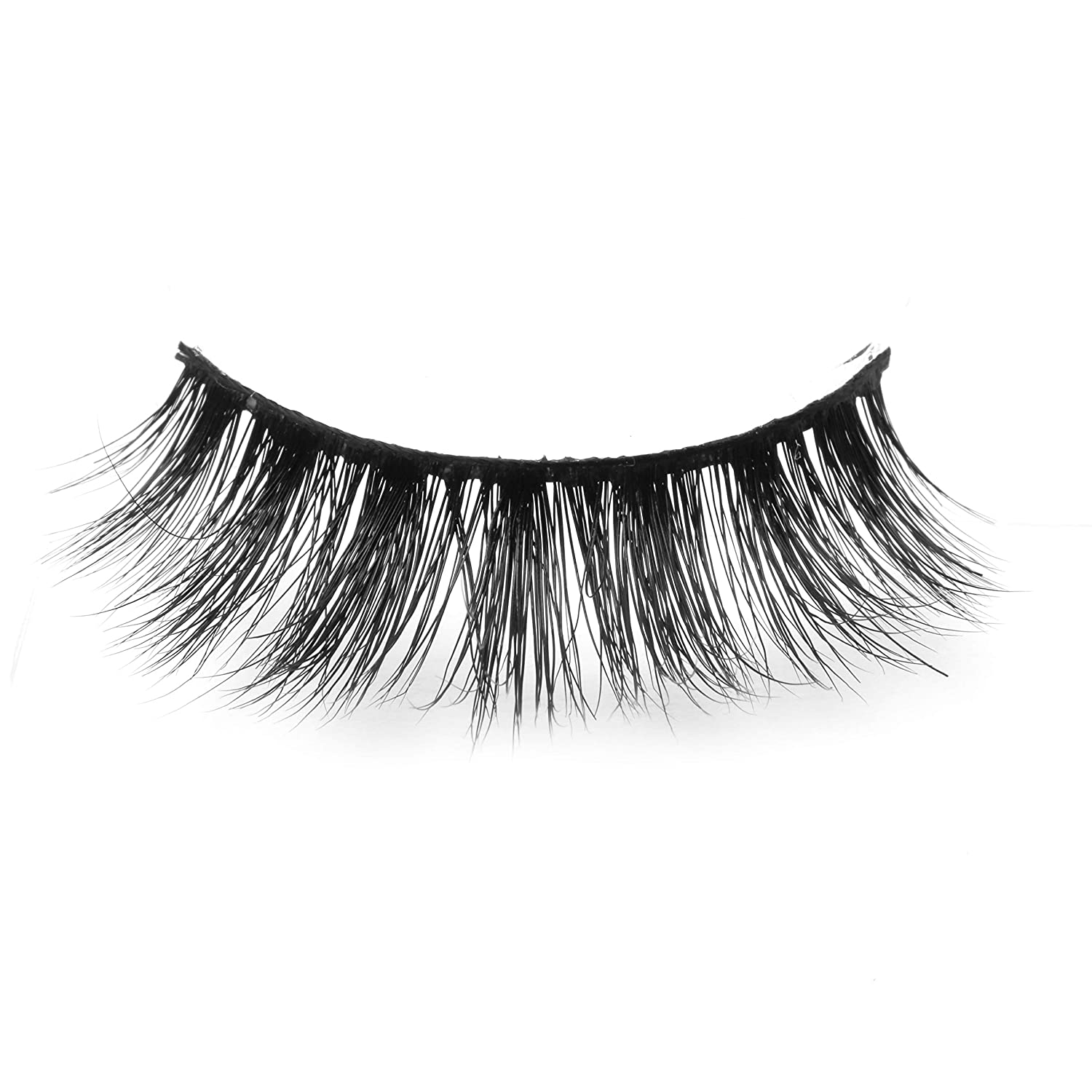 Arimika Handmade 3D Mink Fake Eyelashes -Reusable with Sturdy Flexible Band, Lightweight Fluffy Natural Look, Cruelty Free