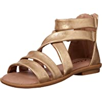 Clarks Girls' Holly II Fashion Sandals, Gold Distress