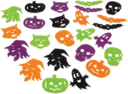 Lot Of 24 Assorted Color And Halloween Design Plastic Mini Stencils