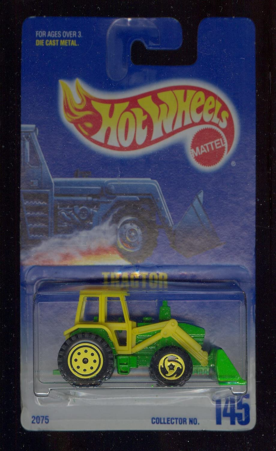 Hot Wheels 1991  145 TRACTOR Grün & Gelb 1:64 Scale by Mattel