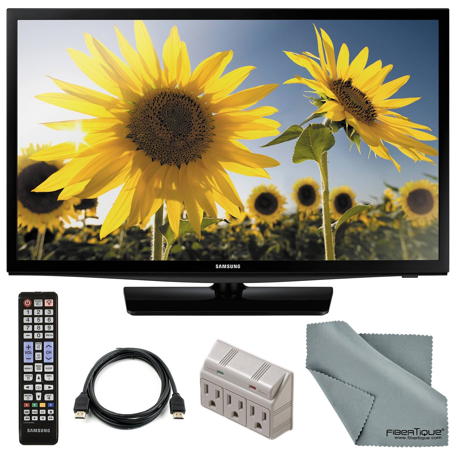 "Samsung UN28H4000 28"" 720p 60Hz LED TV and Accessory Bundle with Remote Control, HDMI Cable, and FiberTique Cleaning cloth by Photo Savings"