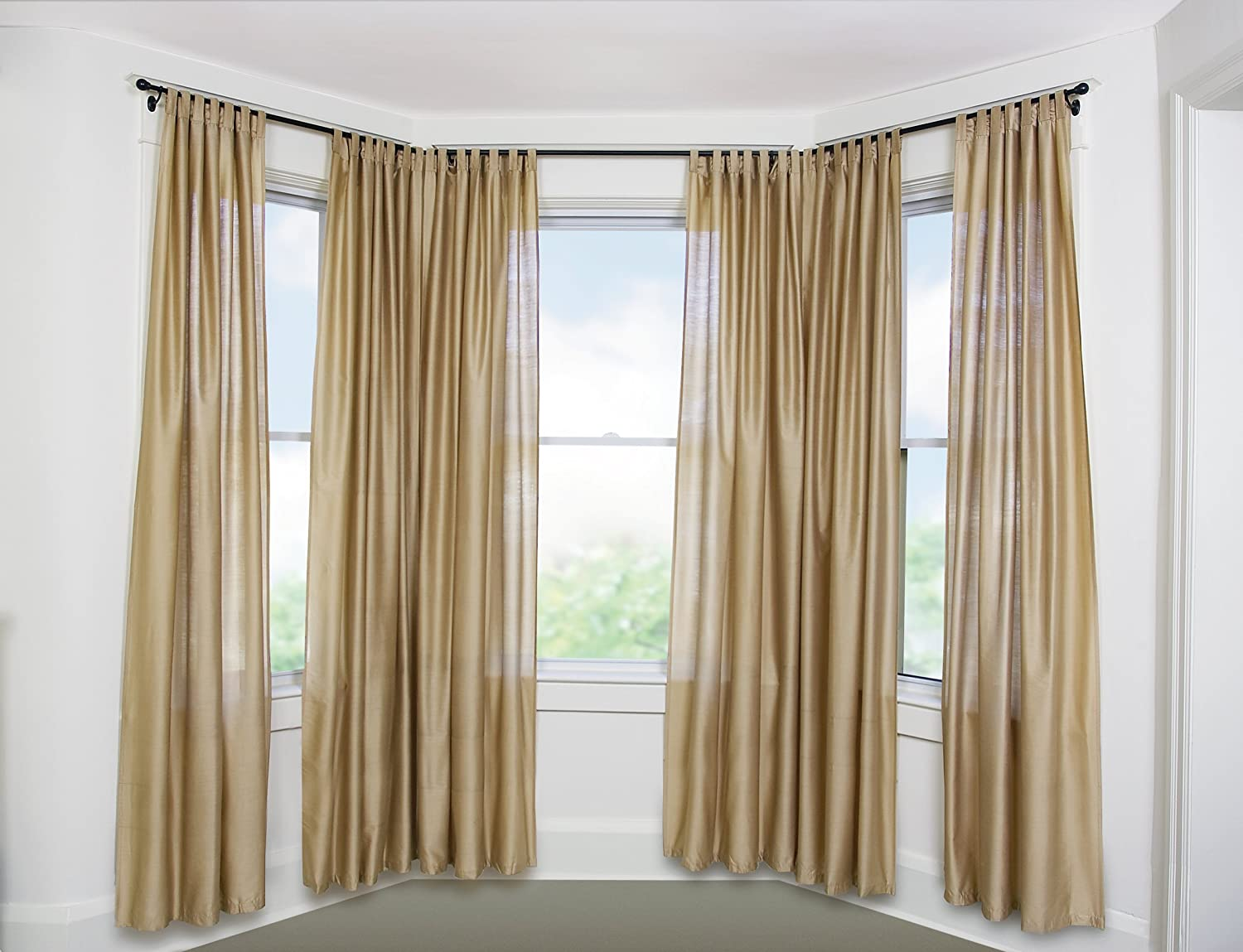 Bay windows and corner curtain rods apps directories - Amazon Com Umbra Bayview Drapery Rod System For Bay Windows Bronze Home Kitchen