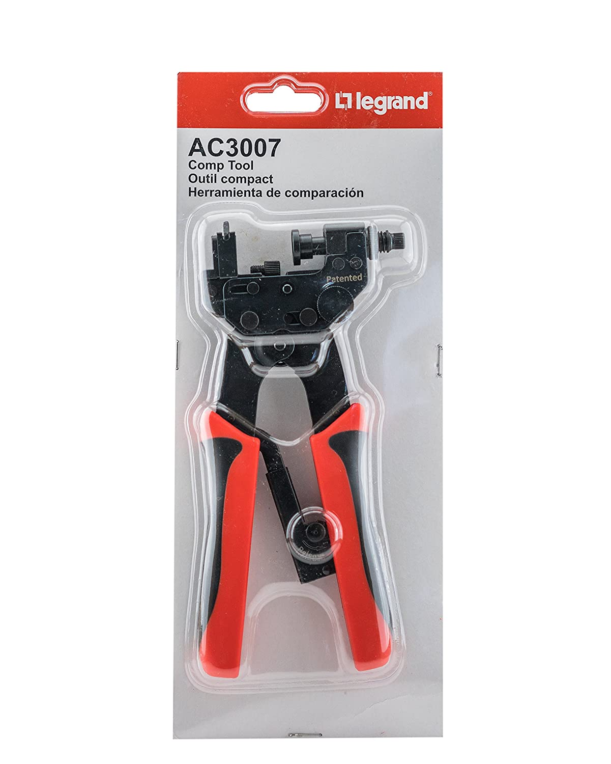 Legrand - On-Q AC3007 Adjustable Compression Tool, RG6 RG59 Coaxial Connectors Crimper - - Amazon.com