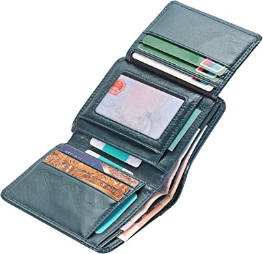 Large Soft Leather Mens Trifold Jacket Wallet 11 Credit Card Coin Pouch Gift Box