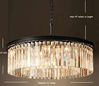 Lumos Luxury Modern Crystal Chandelier Pendant Ceiling Lamp/Crystal Lighting  Fixture For Dining Room,