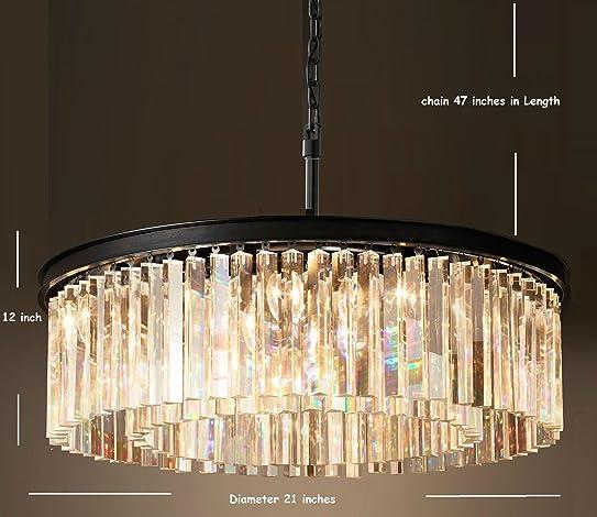 Lumos Luxury Modern Crystal Chandelier Pendant Ceiling Lamp/Crystal Lighting  Fixture For Dining Room,