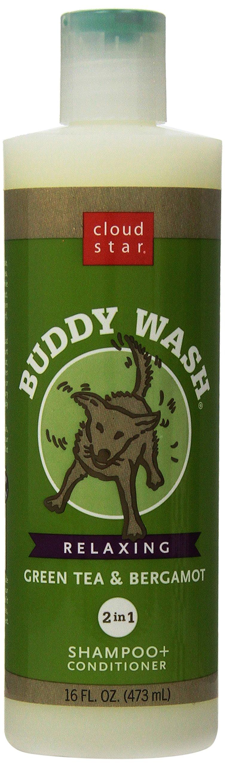 Cloud Star Buddy Wash Dog Shampoo- Green Tea And Bergamot, 16-Ounce Bottles (Pack Of 3)