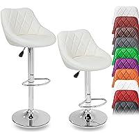 TRESKO 2er Set Barhocker Barstuhl 10 Farben wählbar, 360° frei drehbar, Sitzhöhenverstellung 60-80cm