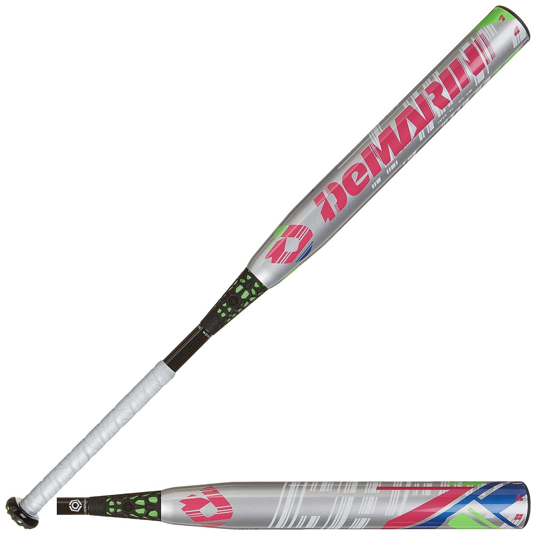 DeMarini cf7 - 11 Fastpitch Softball Bat 28-Inch/17-Ounce シルバー/グリーン B00IRE43GS