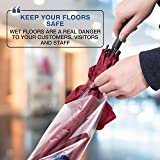 Brella Fella Wet Umbrella Bag Wrapper Stand Station Solution with Sign Frame - Be Safe, Wrap it up! - Bonus 100 Long Bags Included
