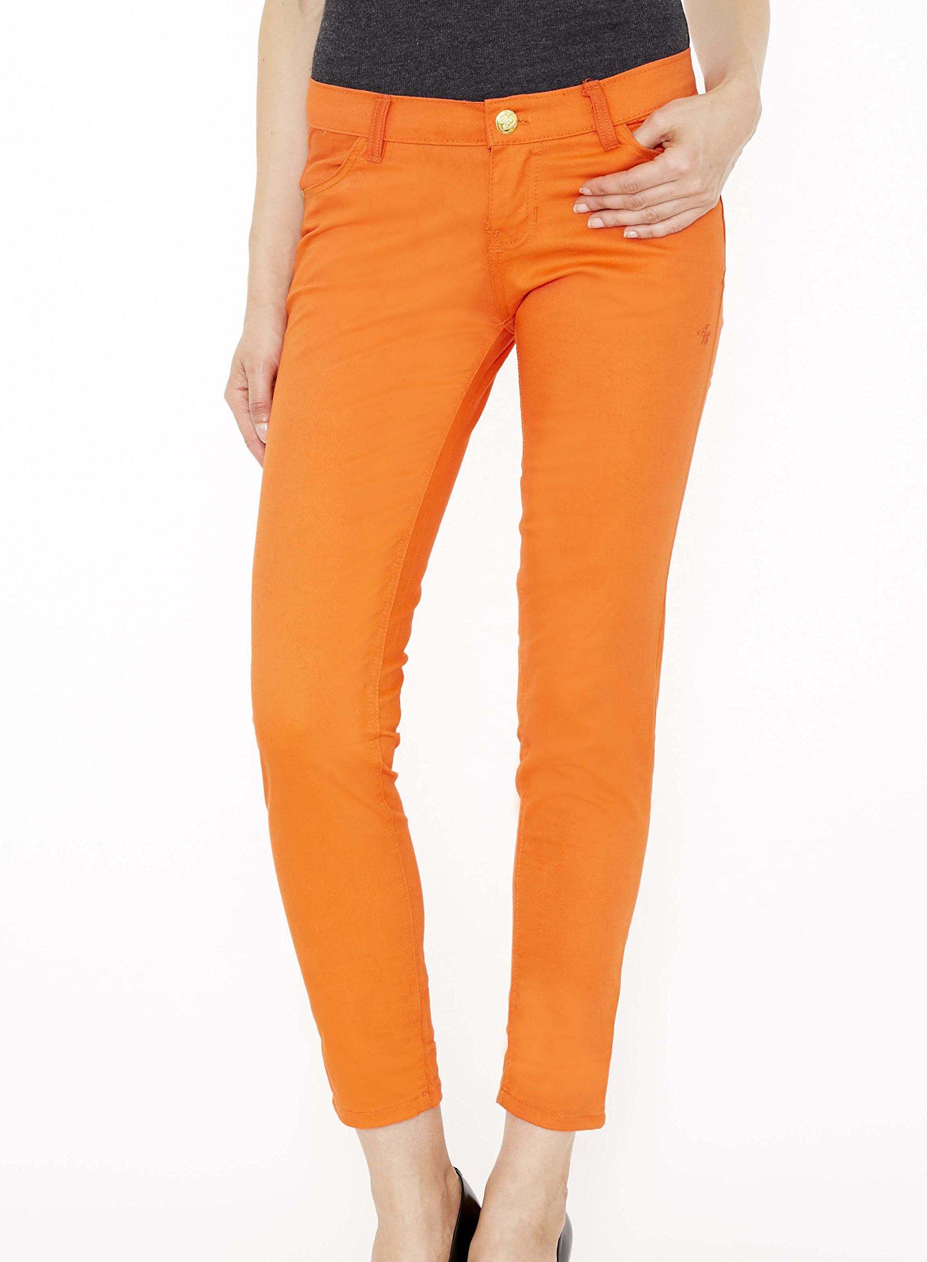 Apple Bottoms Junior Cut Women's Jeans- Orange - 5/6