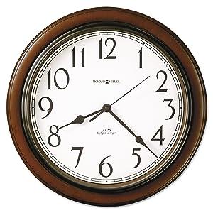Talon Wall Clock, 15-1/4in, Cherry