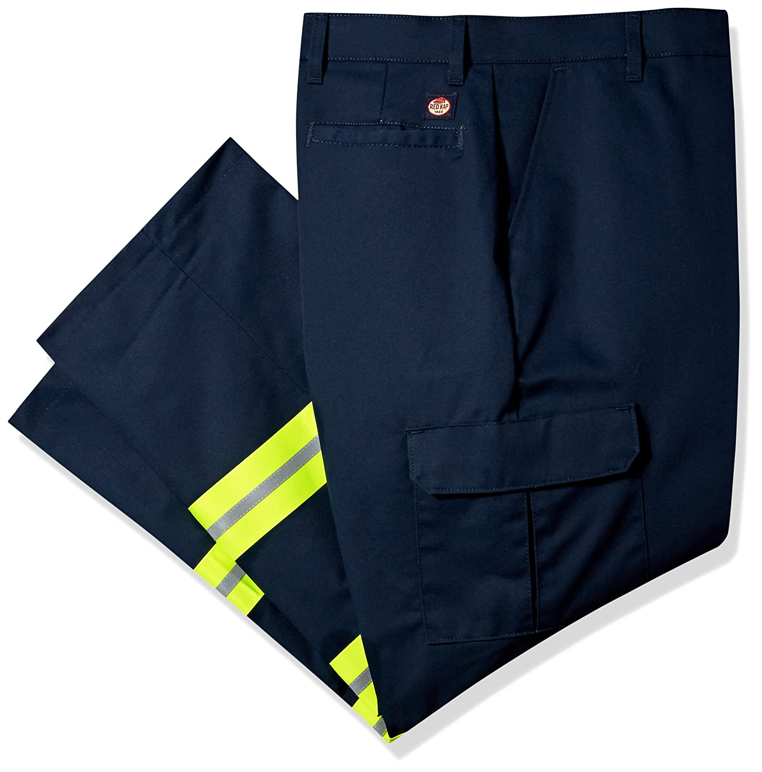 Red Kap PANTS メンズ B072ZSQSNQ 46W x 34L|Navy With Yellow/Green Visibility Trim Navy With Yellow/Green Visibility Trim 46W x 34L