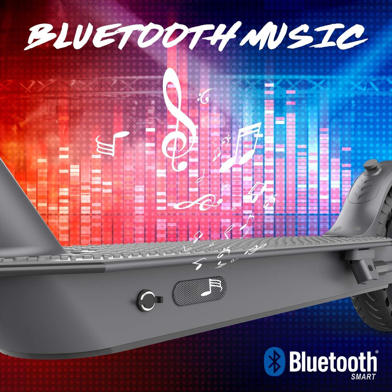 MARKBOARD Trottinette Electrique Pliable 8.5 Pouces Patinette Pliable Robuste Affichage /à LCD Moteur 300W Electric Scooter Batterie Longue Port/ée avec APP et Bluetooth 2 Modes Vitesse