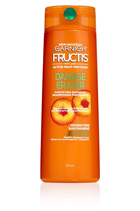 Garnier Fructis Damage Eraser Shampoo, Distressed, Damaged Hair, 12.5 fl. oz.