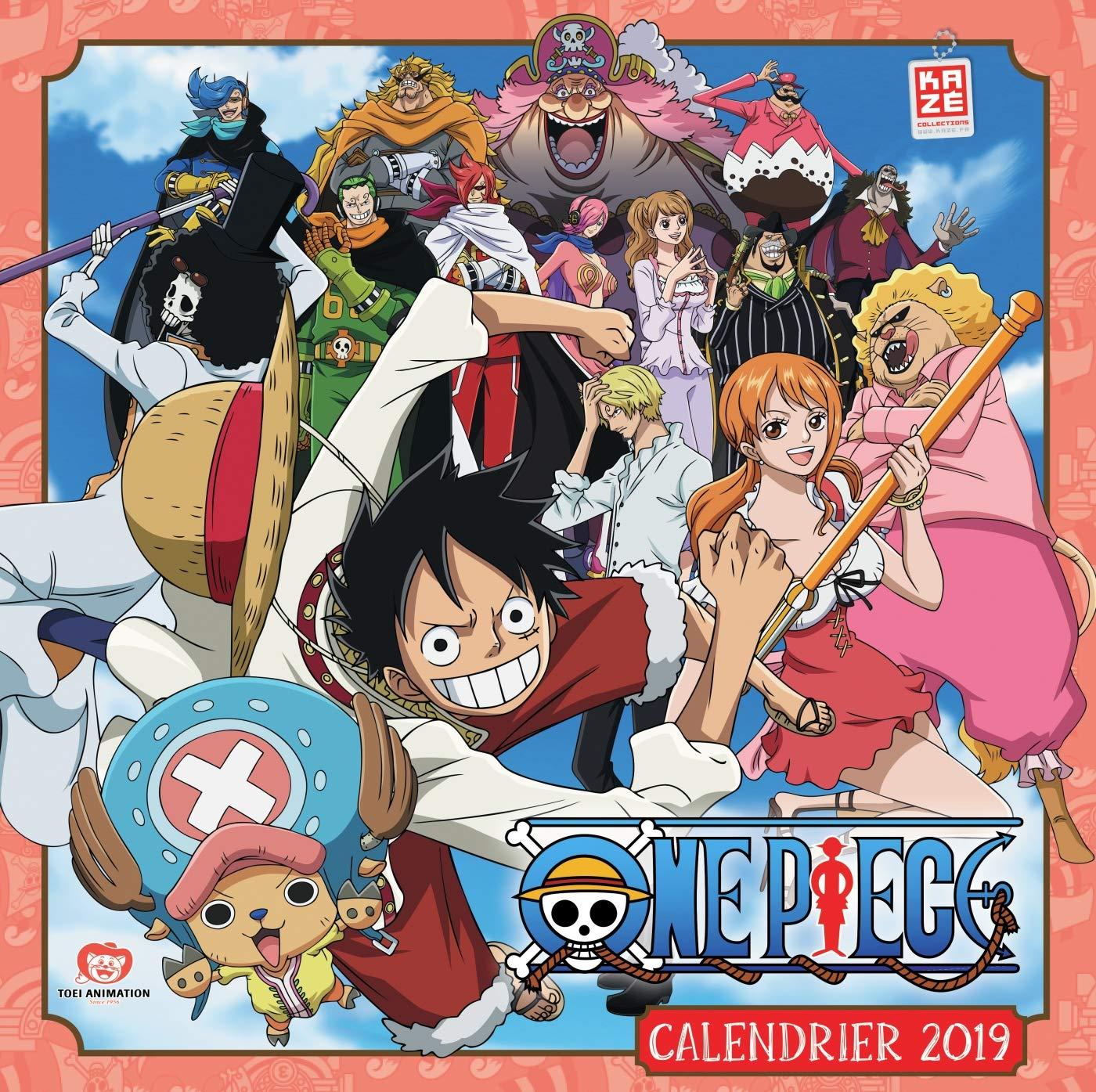 Calendrier 2019 One Piece Amazon Fr Kaze Livres