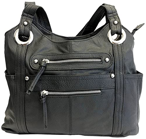 Leather Locking Concealment Purse - CCW Concealed