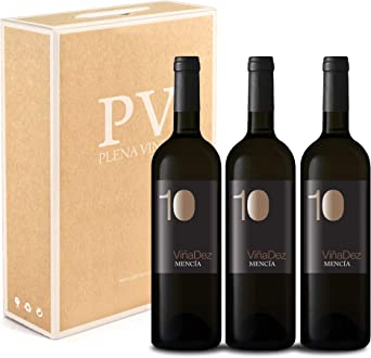 Vino Tinto Mencía Ribeira Sacra. Vino Gallego, Estuche Pack de 3 botellas VIÑADEZ 75cl cosecha 2019: Amazon.es: Alimentación y bebidas