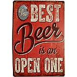 Pôster erlood Best Beer Vintage Funny Home Decor Placa de lata Retro Metal Bar Pub 8 x 12