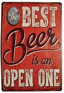 ERLOOD Best Beer Vintage Funny Home Decor Tin Sign Retro Metal Bar Pub Poster 8 x 12