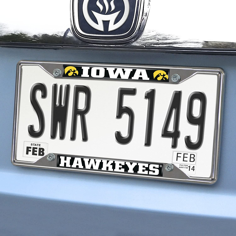 FANMATS  14904  NCAA University of Iowa Hawkeyes Chrome License Plate Frame