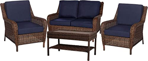 Editors' Choice: Hampton Bay Beacon Park Wicker Outdoor Swivel Lounge Chair 1