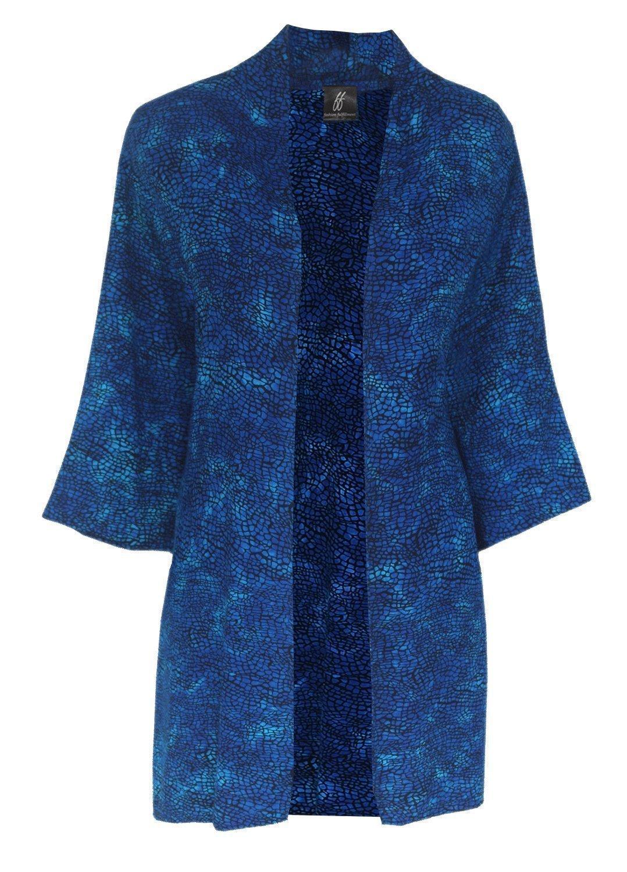 Plus Size Kimono Jacket, Custom Order in Plus Size 2x 3x or 4x, Handmade Batik Kimono Cardigan for Causal Events